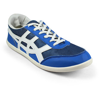 Globalite Mens Wings ACE Blue White Casual Shoes ( GSC0349 )