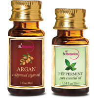 StBotanica Argan Oil (30ml) + Peppermint Pure Essential Oil (10ml)