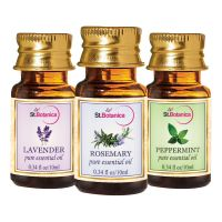 StBotanica Peppermint + Rosemary + Lavender Pure Essential Oil (10ml Each)