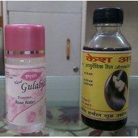 Priti Rose Water 60 Ml+  Kesh Amrit Hair Oil 100ml