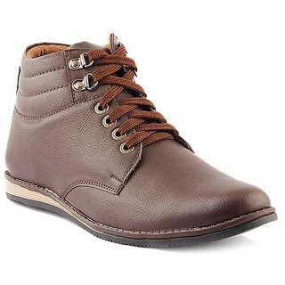 Dox Men's  Brown Ankle Length Casual Shoes