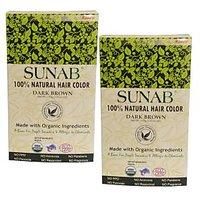 Radico Sunab Herbal Dark Brown Hair Color - 100g (Set Of 2) - 85898153