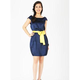 Schwof Yellow Belt Dress