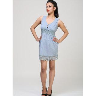 Schwof Grey Lace Dress