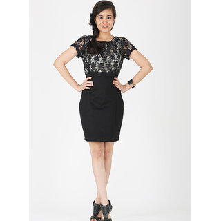 Schwof Black Bodycon Dress