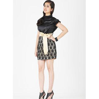 Schwof Golden Belt Dress