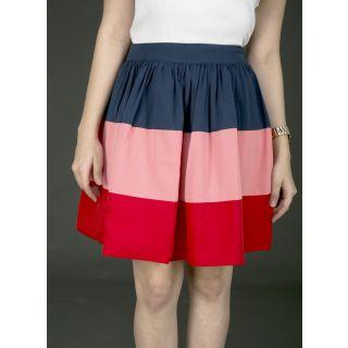 Schwof Pink Navy Skirt