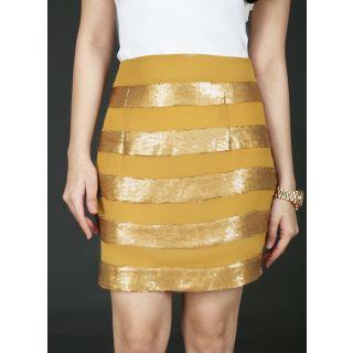 Schwof Gold Panel Skirt
