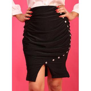 Schwof Black Buttoned Skirts