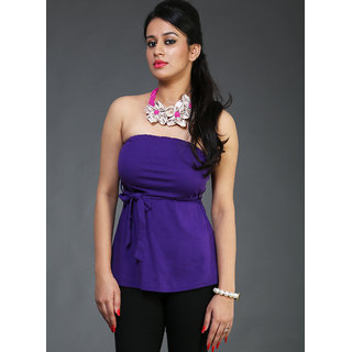 Schwof Purple Off Shoulder Top