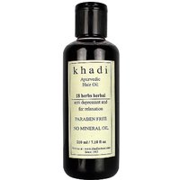 Khadi 18 Herbs Herbal Ayurvedic (Paraben Free) Hair Oil 210Ml