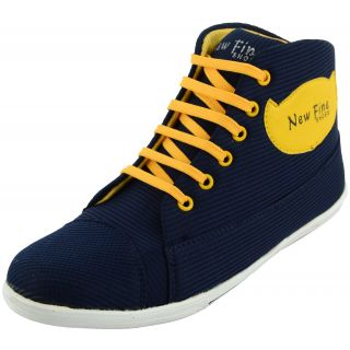 Da-Dhichi Blue-Yellow Long Sneakers