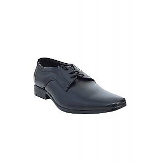 Tycoon Black Leather Derby Shoes