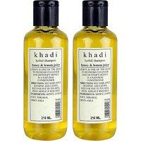 Khadi Herbal Honey  Lemon Juice Shampoo Pack Of 2 (210 Ml)