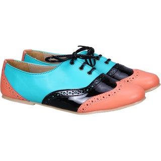 Sadana'S Colourfull Black Lace-Up Shoes.