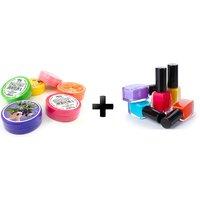 Set Of 5 Nail Polish  Nail Polish Remover(Tissue- Assorted Colors)