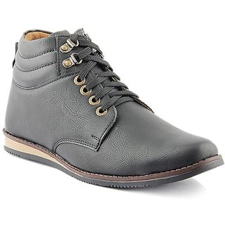 Dox Men'S Black Ankle Length Casual Shoes