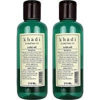 Khadi Herbal Tulsi Hair Oil-210 ML-PACK OF 2