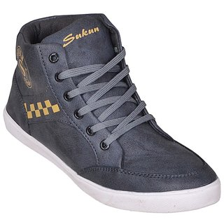 Sukun Gray Casual Shoes For Men