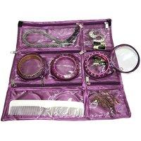 ADDYZ Purple Cosmetic & Jewellery Foldable Organizer