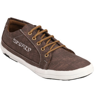 Footstamp Brown Casual Lace Up Shoes