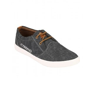 Footstamp Black Casual Lace Up Shoes - 86729822