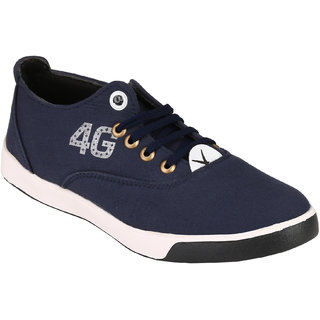 Footstamp Blue Casual Lace Up Shoes - 86729860