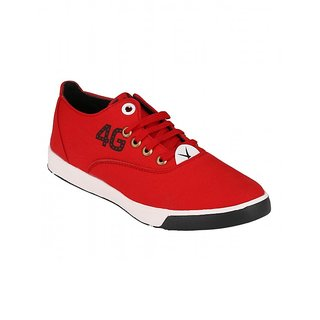 Footstamp Red Casual Lace Up Shoes