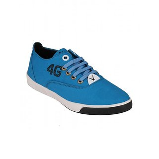 Footstamp Navy Casual Lace Up Shoes