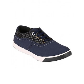 Footstamp Blue Casual Lace Up Shoes - 86729914