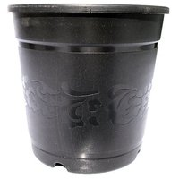 SGS 5 Inch Floral Planter With Base Tray - Set Of 6 (Black)