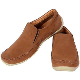 Shoebook Casual Moccasin Tan Slip On Slip On
