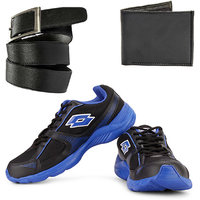 Combo Of Lotto Pounce Running Shoes With FastFox Belt  Wallet (AR3162)