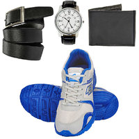 Combo Of Lotto Pacer Sports Shoes With FastFox Watch, Belt, Wallet (AR3172)