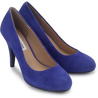 Steve Madden Sunni Blue Suede Stylish  Cool  Women Heels