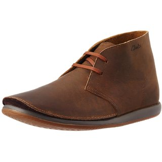 Clarks Mens Newton Mass Leather Boots