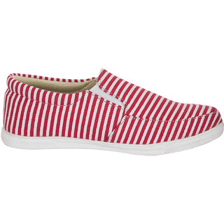 Advin England Red Strips Casual Belly Style Shoes (3334)