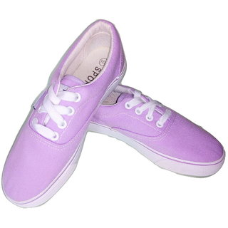 Funky N Trendy Purple High Quality Canvas Casual Sneaker Shoes