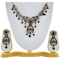 Asian Pearls & Jewels Black Necklace Set - 87149454