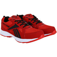 Fitze Sports Shoes For Men Made By Mesh Textile And Eva Sole Red And Black