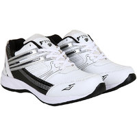 Fitze Sports Shoes For Men Made By Mesh Textile And Eva Sole Black And White