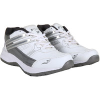 Fitze Sports Shoes For Men Made By Mesh Textile And Eva Sole White And Light Grey