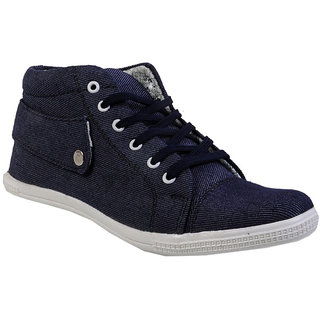 Buywells Blue Jeans Texture Lace Up Shoes