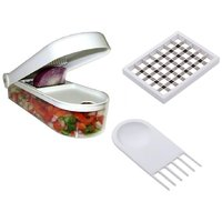Vegetable & Fruit Chopper Cutter With Chop Blade & Cleaning Tool & Storage Container For Dicer Onion Salad Potato Chips Made Of Virgin Plastic