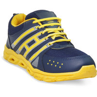 ADYBird Men's Blue And Yellow Stripe Sport Shoes 810