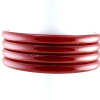 Royal Bangles 21 Cut Colour Red  Size-2.12,2.14