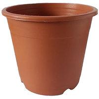 Plastic Pot Round 19.5 Cm X 17 Cm (Pack Of 6 ) Teracotta Colour