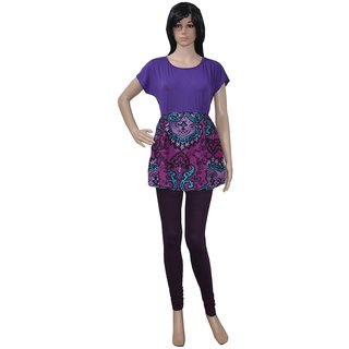 Pezzava: Women's Wear Hosiery Kurta Party Wear Block Print Kurti TOP-A0394