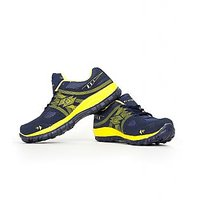 Elligator 1504 Rapid Navy Blue  Yellow Stylish Sports Shoes For Men