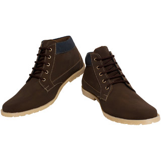 DSolz Rocker Brown High Ankel Casual Shoes